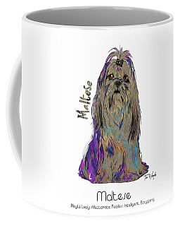 Maltese Pop Art Coffee Mug