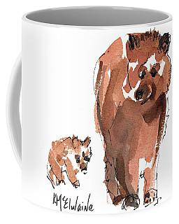 Mama And Baby Series Bear Coffee Mug