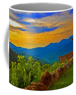 Blue Ridge Sunset From Mama Gertie's Hideaway Coffee Mug