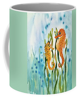 Mamma And Baby Seahorses Coffee Mug