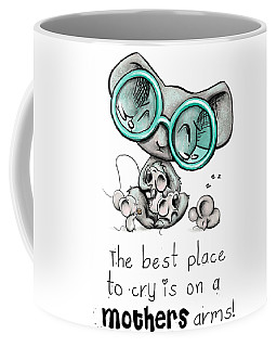 Coffee Mug featuring the digital art Mamma Mouse by Lizzy Love