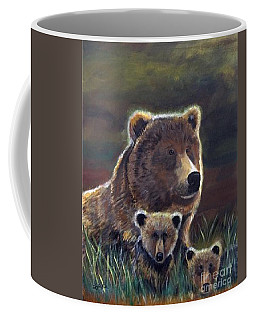 Coffee Mug featuring the painting Mammas Warmth by Leslie Allen