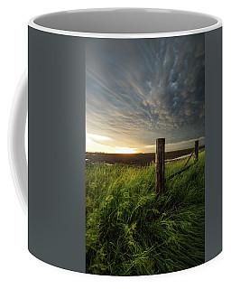 Coffee Mug featuring the photograph Mammatus Sunset by Aaron J Groen