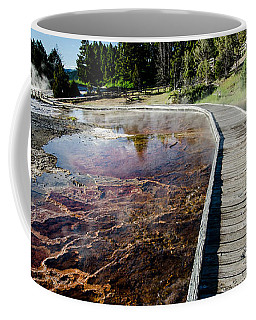 Mammoth Hot Springs Boardwalk Coffee Mug