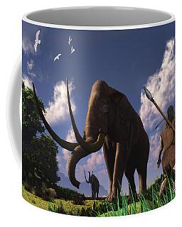 Mammoth Hunters Coffee Mug by Ken Morris