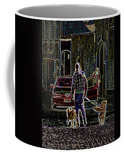 Man And Best Friends Coffee Mug by Rhonda McDougall