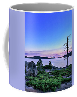 Coffee Mug featuring the photograph Man And Dog by Jim Thompson