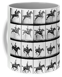 Man And Horse Jumping Coffee Mug