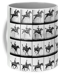 Man And Horse Jumping Coffee Mug