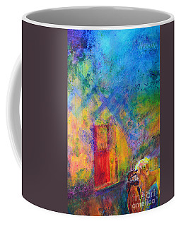 Coffee Mug featuring the painting Man And Horse On A Journey by Claire Bull