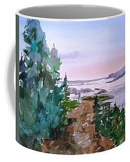 Man At Fraser Lake Bc Coffee Mug