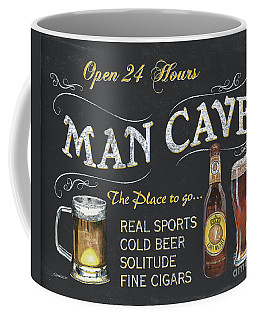 Man Cave Chalkboard Sign Coffee Mug