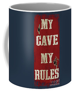 Man Cave Rules Coffee Mug