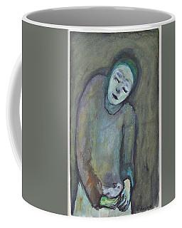Man Holding Bird Coffee Mug