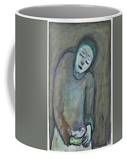 Man Holding Bird Coffee Mug