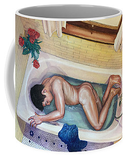 Man In Bathtub #3 Coffee Mug