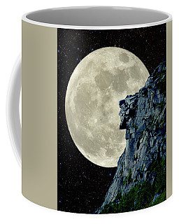 Coffee Mug featuring the photograph Man In The Moon Meets Old Man Of The Mountain Vertical by Larry Landolfi