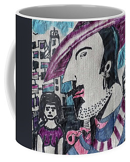 Man In The Striped Fedora Coffee Mug