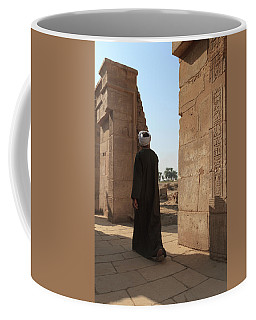 Coffee Mug featuring the photograph Man In The Temple by Silvia Bruno