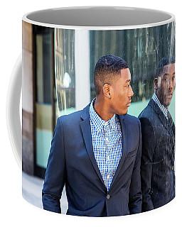 Man Looking At Mirror Coffee Mug