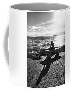 Coffee Mug featuring the photograph Man Looking At The Sea In Spain by Eduardo Jose Accorinti