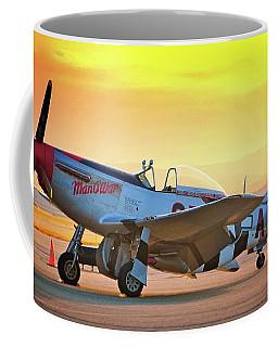 Man O War At Sunset Coffee Mug
