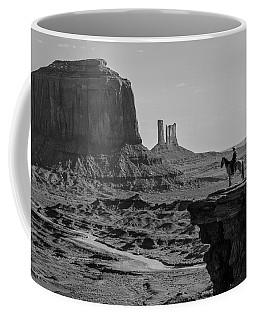 Man On Horse Monument Valley Coffee Mug