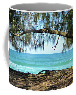 Man Relaxing At The Beach Coffee Mug