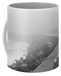 Man Waiting In Fog Coffee Mug