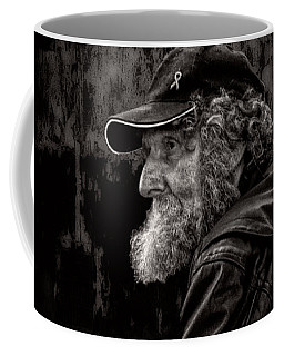 Coffee Mug featuring the photograph Man With A Beard by Bob Orsillo