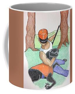 Man With Dog Coffee Mug by Loretta Nash