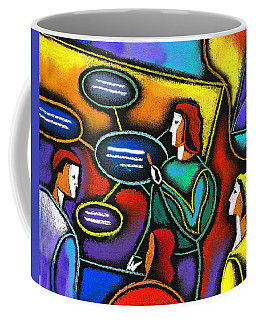 Coffee Mug featuring the painting Manager  by Leon Zernitsky