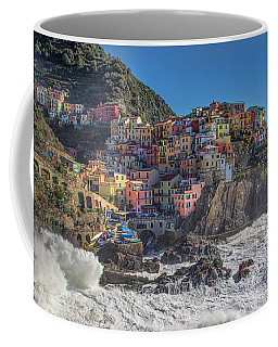 Coffee Mug featuring the photograph Manarola In Cinque Terre  by Cheryl Strahl