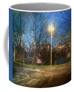 Manchester Street With Light And Trees Coffee Mug