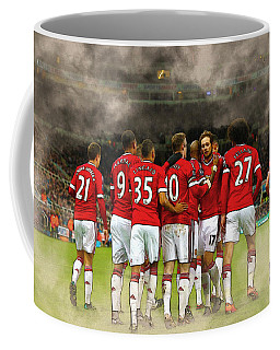 Manchester United  In Action  Coffee Mug