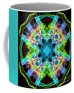 Coffee Mug featuring the digital art Mandala 3308a  by Rafael Salazar