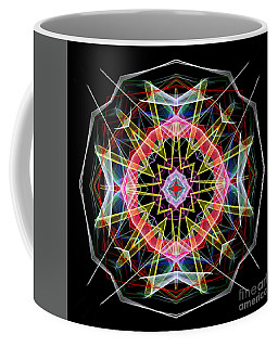 Coffee Mug featuring the digital art Mandala 3313 by Rafael Salazar