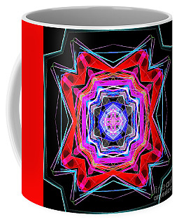 Coffee Mug featuring the digital art Mandala 3325 by Rafael Salazar