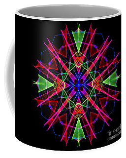 Coffee Mug featuring the digital art Mandala 3351 by Rafael Salazar