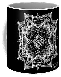 Coffee Mug featuring the digital art Mandala 3354b In Black And White by Rafael Salazar