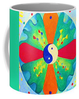 Coffee Mug featuring the painting Mandala by Denise Fulmer