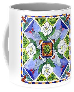 Mandala IIi - White Hibiscus Coffee Mug