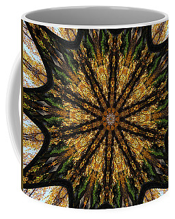 Mandala Of Autumn Trees. Coffee Mug