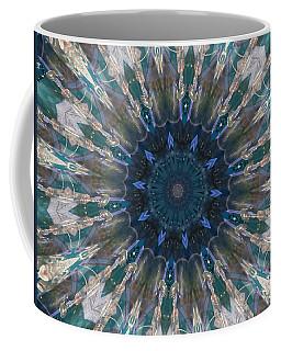 Mandala Of Blue Glass Coffee Mug