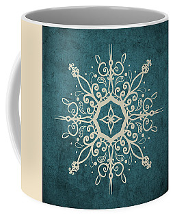 Mandala Teal And Tan Coffee Mug