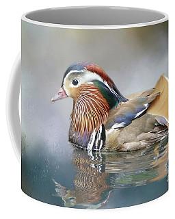 Mandarin Duck Swimming Coffee Mug