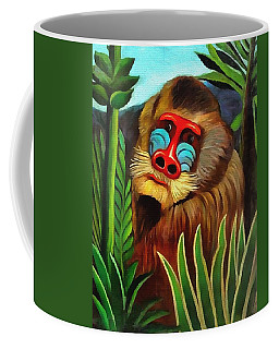 Mandrill In The Jungle Coffee Mug by Henri Rousseau