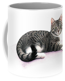 Coffee Mug featuring the drawing Mandy by Danielle R T Haney