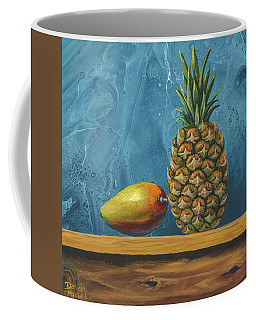 Coffee Mug featuring the painting Mango And Pineapple by Darice Machel McGuire