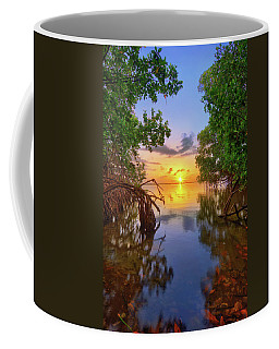 Mangrove Sunset From Jensen Beach Florida Coffee Mug